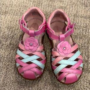Girls stride multi color shimmer sandals